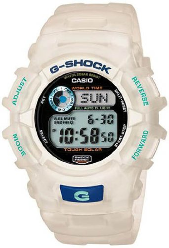 Clear G-Shock World Time Tough Solar Strap Digital Dial