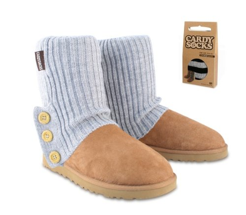 Cardy Socks for short boots, Smoke