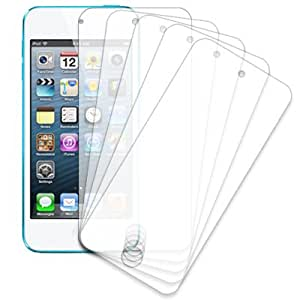 MPERO Collection 5 Pack of Clear Screen Protectors for Apple iPod Touch 5th Gen