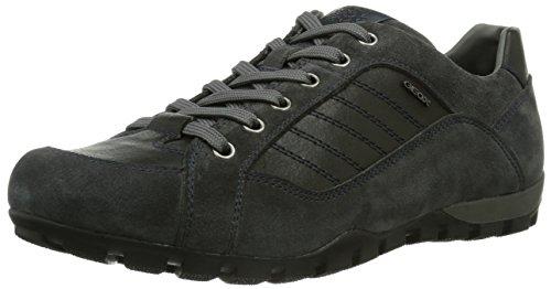 Geox UOMO ROCCIA, Sneaker Uomo, Grigio (Grau (CHARCOAL/BLACKC9214)), 44