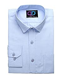 Formals by Koolpals-Cotton Blue Shirt Sky Blue Self