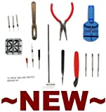 Wrist Watch Repair / Maintenance Kit w/ 16 Tools