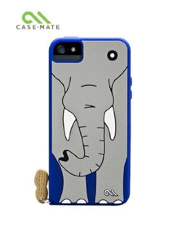 Case-Mate 日本正規品 iPhone5 CREATURES: Ellie Elephant Case, Blue クリーチャーズ: ゾウさんのエリー シリコン ケース, ブルー CM022555