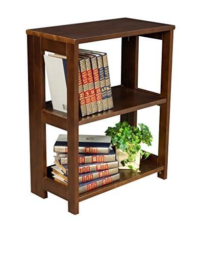 Regency Deskside Folding Bookcase, Mocha Walnut