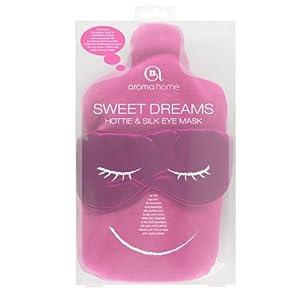 Sweet Dreams Hottie & Silk Eye Mask - Pink
