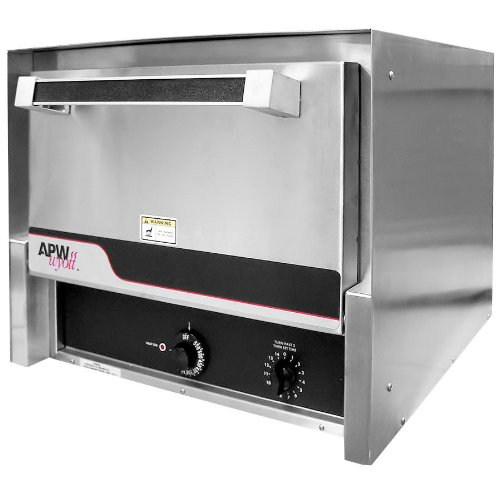 208/240 Volt Apw Cdo-18 Electric Two Deck Countertop Pizza / Deck Oven