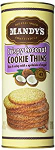 Mandy's Cookie Thins, Toasted Coconut, 4.6 Ounce (Pack of 12)