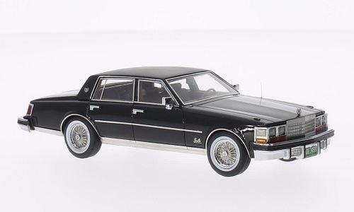 Cadillac Seville MK1, nero/nero opaco, 1979, modello di automobile, modello prefabbricato, Neo 1:43 Modello esclusivamente Da Collezione