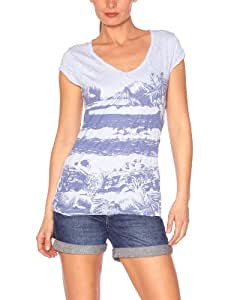 Oxbow Dajit T-Shirt manches courtes froissé femme Pale Blue FR : 34 (Taille Fabricant : 0)
