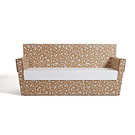 Bioecoshop Divano A 2 Posti In Cartone Bioeco Kub Spa Mis 132 x 64 Cm H 85 Cm Medium Made In Italy