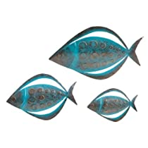 SEI Fish Wall Art Set of 3