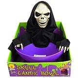 【ハロウィン雑貨】 スカルキャンディボール(1個)  / お楽しみグッズ(紙風船)付きセット [おもちゃ&ホビー]