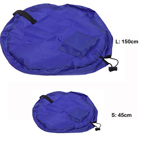 Anself Portable sac à jouet sac de rangement tapis de jouet pour les bébé enfants tapis pour les enfant