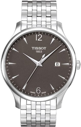 Tissot Quartz Tradition Silvertone Anthracite Dial Quartz Men's Watch T063.610.11.067.00