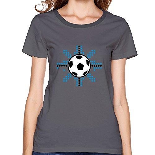 Bingo Women'S Soccer Ball Digital Star Cotton Tee T Shirt Deepheather L