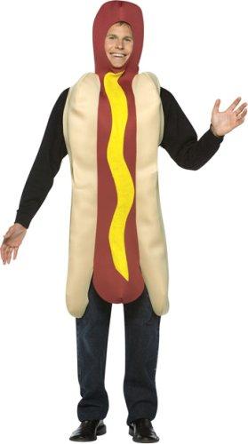 Adult Men's and Women's Hotdog Halloween Costume