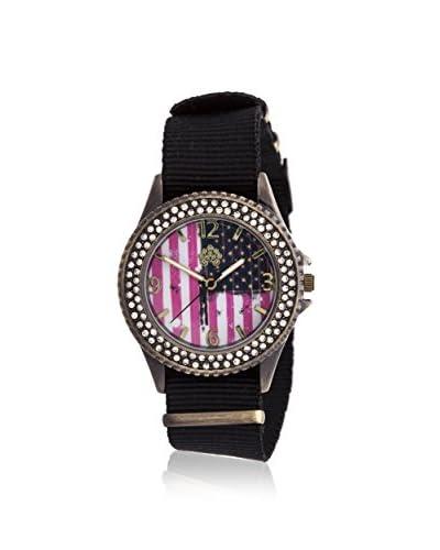 Wallflower Women's WAF002BK Swarovski Crystal Elements Black Nylon Watch