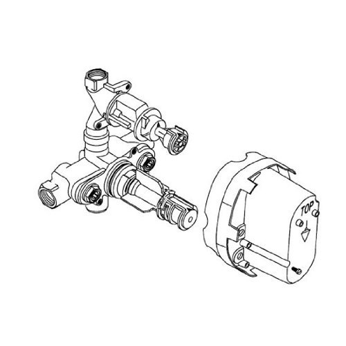 American Standard R520 Ceratherm Rough Valve Body with 1/2-Inch NPT Inlets/Outlets, 7.2 GPM at 40 PSI