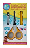 Babies First Manicure Set -Safety Scissors & Nail Clippers (Yellow)