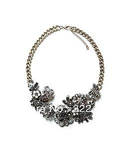 GOMO Fashion Chain Necklace Chunky Choker Luxury Statement Flower women pendant Necklaces bijoux Jewelry