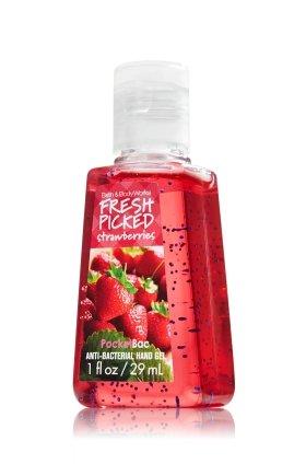 バス&ボディワークス フレッシュピックドストロベリー 抗菌ハンドジェル 29ml Fresh Picked Strawberries AntiーBacterial PocketBac Sanitizing Hand Gel