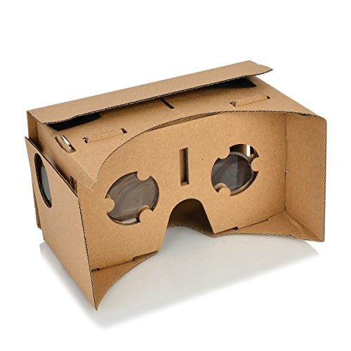 "DIY Assembling Virtual Reality Cardboard with Resin Lens Set for 4-7"" Smart Phones"