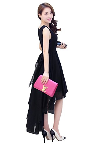 30% OFF on Beautiful And Designer Georgette partywear Black Flared One Piece  for women on Amazon  be1196ead6ea