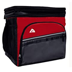 24 Can Cooler with Removable Hardliner- Red by Ozark Trail