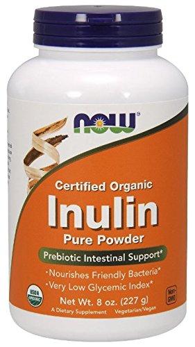 NOW Foods Organic Inulin Powder, 8 oz