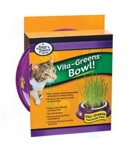 Detail image Four Paws Vita Greens Plastic Holder and Grass Combo