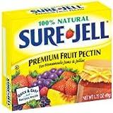 Sure Jell Premium Fruit Pectin For Homemade Jams And Jellies, 100% Natural (2 Packs)