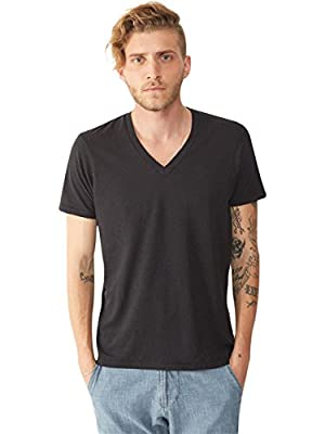 Alternative Men's Boss V-Neck Tee, Black, Large