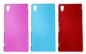 3 Pieces Winsome Deal Exclusive Hard Back Cover Case For Sony Xperia M4
