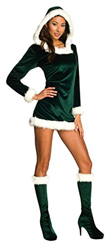 Rubie's Costume Co Women's Sexy Green Santa's Helper Costume