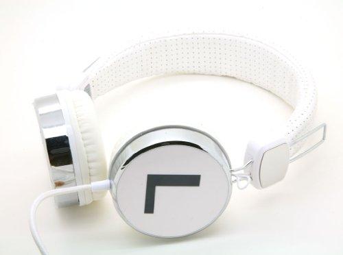 White Dj Over The Collapsible Head Earphone Headphones For Apple Ipod, Ipad, Nano, Sony Mp4, Samsung I9500 S4