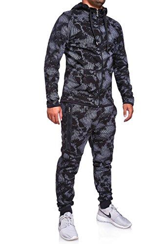 MT Styles Trainingsanzug mit Zipper Hose R-739 [Schwarz, M]