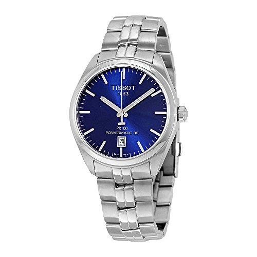 Tissot PR 100 Automatic Blue Dial Mens Watch T101.407.11.041.00 (Tissot Blue Dial Mens Watch compare prices)