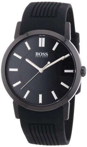 Hugo Boss  0 - Reloj de cuarzo para hombre, con correa de plástico, color negro