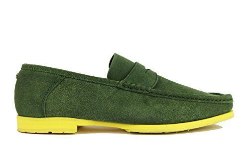 CESARE PACIOTTI mocassini uomo verde camoscio AH610 (44 EU)