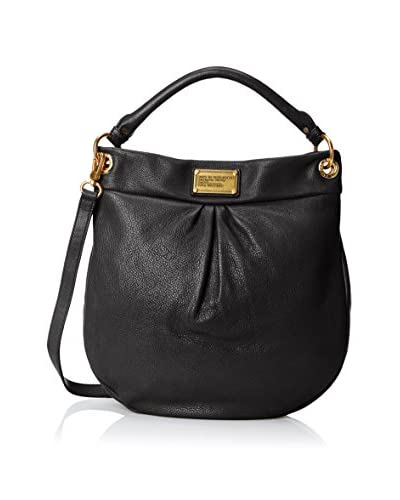 Marc by Marc Jacobs Classic Hillier Hobo Hobo Handbag,Black,One Size