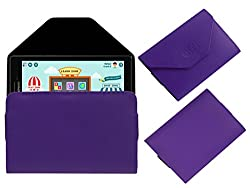 Acm Premium Pouch Case For Lenovo Cg Slate Grade 3-5 Tablet Flip Flap Cover Holder Purple