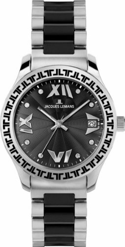 Jacques Lemans Women's 1-1598A Rome Analog with Swarovski Elements and HighTech Ceramic Watch