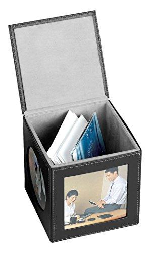 bellino-memoria-cubo-de-marco-de-fotos-juego-de-4-conjunto-de-2-color-negro