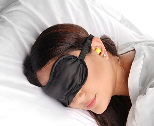 Sex with earplugs and blindfold