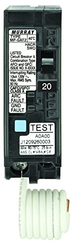 Siemens Mp120Df 20-Amp Afci/Gfci Dual Function Circuit Breaker, Plug On Load Center Style