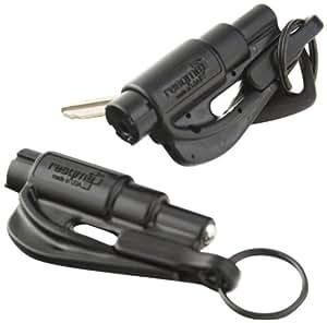 Resqme Porte-clés sécurité fabriqué aux États-Unis (Noir)