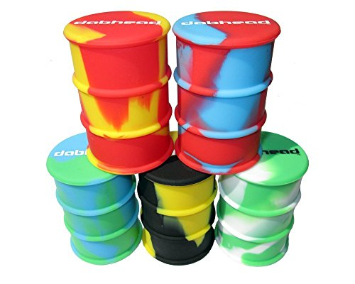 3 Large Non Stick Silicone Oil Drum Barrel Containers Dab Jar (Oil Slick Container compare prices)