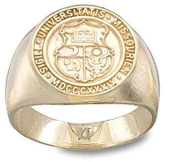 Missouri Tigers Seal Mens Ring Size 10 - 14KT Gold Jewelry by Logo Art