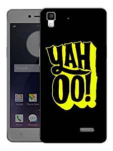 """Humor Gang Yahoo Minimal Happy Quote Printed Designer Mobile Back Cover For """"Oppo R7"""" (3D, Matte, Premium Quality Snap On Case)"""