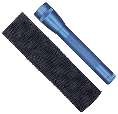 Mag Mini Lite-Blue Flashlight So Small Powerful Includes Spare Lamp Two Aa Batteries